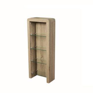 An Image of Cannock Wooden CD DVD Storage Unit In Havana Oak