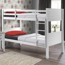 An Image of Napoli Wooden Children Bunk Bed In White