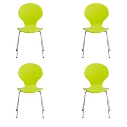 An Image of Ibiza Set Of 4 Dining Chairs In Lime