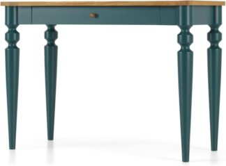 An Image of Betty Desk, Oak and Teal