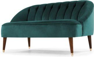 An Image of Margot 2 Seater Sofa, Peacock Blue Velvet