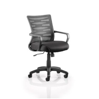 An Image of Eclipse Home Office Chair In Black With Castors