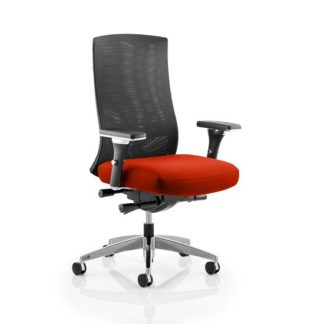 An Image of Scarlet Home Office Chair In Pimento With Castors