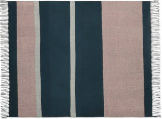 An Image of Auburn Throw, 130 x 170cm, Teal & Pink