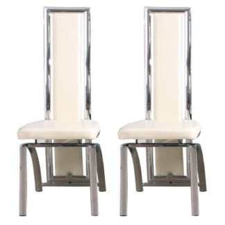 An Image of Chicago Cream Dining Chairs in A Pair