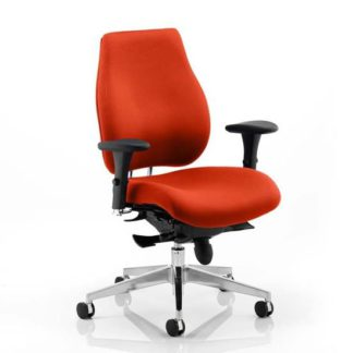 An Image of Chiro Plus Office Chair In Tabasco Red With Arms