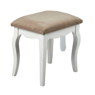 An Image of Harerra Wooden Dressing Stool In Grey