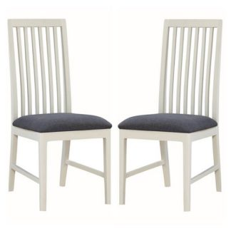 An Image of Trimble Dining Chair In Spanish White Painted In A Pair