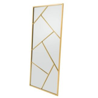 An Image of Betty Contemporary Floor Standing Mirror With Gold Frame