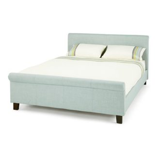 An Image of Hazel Ice Fabric Upholstered Double Bed