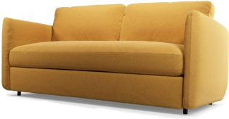 An Image of Custom MADE Fletcher 3 Seater Sofabed with Pocket Sprung Mattress, Yolk Yellow