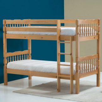 An Image of Keswick Wooden Children Bunk Bed In Antique Pine