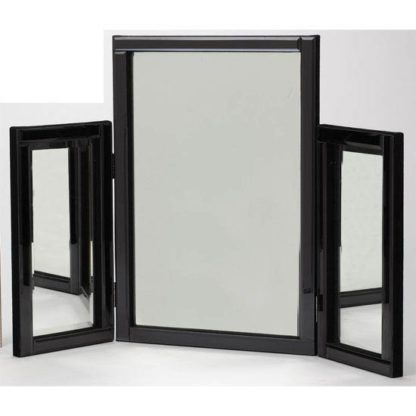 An Image of Black Dressing Table Mirror