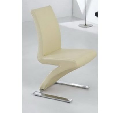 An Image of Demi Z Dining Room Chair in Cream