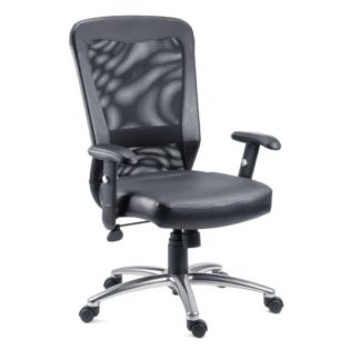 An Image of Blaze Home Office Chair In Black With Chrome Base And Wheels