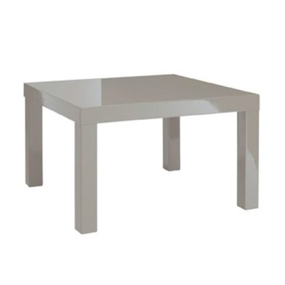 An Image of Puro End Table In Stone High Gloss