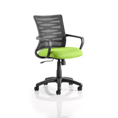 An Image of Eclipse Home Office Chair In Green With Castors