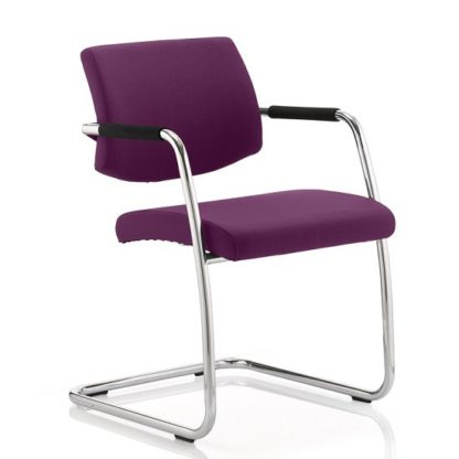 An Image of Marisa Office Chair In Purple With Cantilever Frame