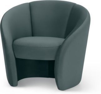 An Image of Abigail Accent Armchair, Marine Green Velvet
