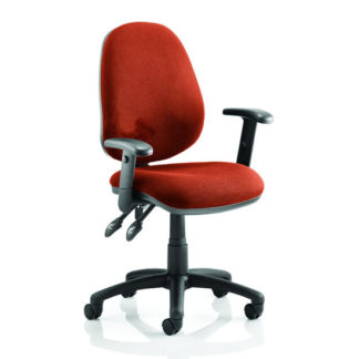 An Image of Luna II Office Chair In Tabasco Red With Arms