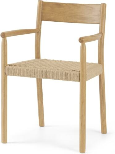 An Image of Rhye Woven Carver Dining Chair, Oak