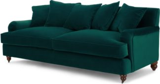 An Image of Orson 3 Seater Sofa, Scatterback, Seafoam Blue Velvet