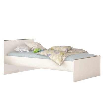 An Image of Pilot Modern Childrens Bed In White And Clay