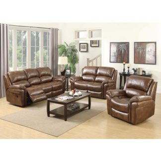 An Image of Lerna Leather 3 Seater Sofa And 2 Seater Sofa Suite In Tan