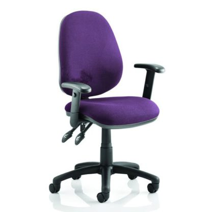 An Image of Luna II Office Chair In Tansy Purple With Arms