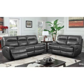 An Image of Orionis Recliner 2 Seater And 3 Seater Sofa Suite In Grey