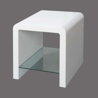 An Image of Norset Modern End Table Square In White Gloss