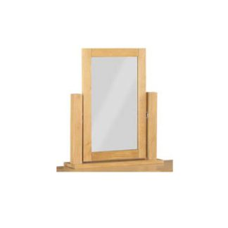 An Image of Tertia Dressing Mirror With Oak Frame