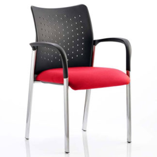 An Image of Academy Office Visitor Chair In Bergamot Cherry With Arms