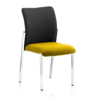 An Image of Academy Black Back Visitor Chair In Senna Yellow No Arms