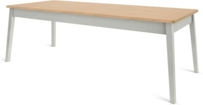 An Image of Custom MADE Harrison Shaker 10 Seat Dining Table, Oak and Moss Green