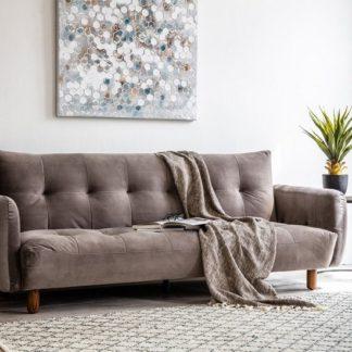 An Image of Zenko Contemporary Fabric Sofa In Titanium Velvet