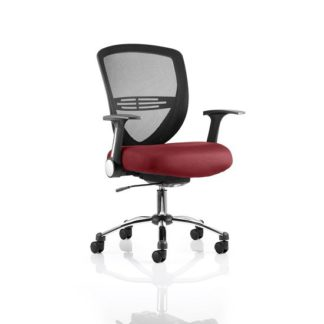 An Image of Avram Home Office Chair In Chilli With Castors