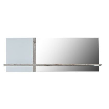 An Image of Crossana Wall Mirror In Paper Sherwood With 1 Shelf