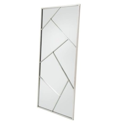 An Image of Betty Contemporary Floor Standing Mirror With Silver Frame