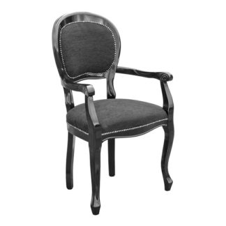 An Image of Spoonback Carver Dining Chair With Wooden Frame