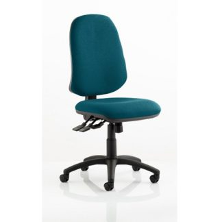 An Image of Olson Home Office Chair In Kingfisher With Castors