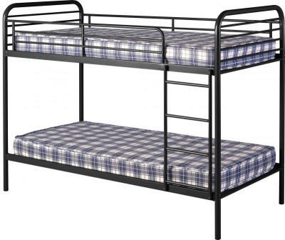 An Image of Bradley 3' Metal Budget Bunk Bed in Black