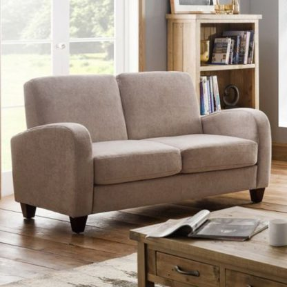 An Image of Vivo Chenille Fabric Fold Out Sofa Bed In Mink