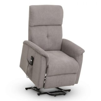 An Image of Bliss Fabric Recliner Chair In Taupe Chenille