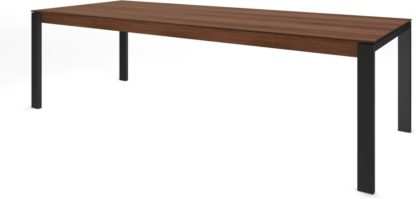 An Image of Custom MADE Corinna 12 Seat Dining Table, Walnut and Black