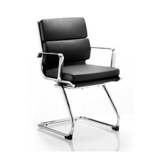 An Image of Savoy Black Cantilever Office Chair