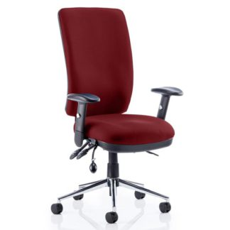 An Image of Chiro High Back Office Chair In Ginseng Chilli With Arms