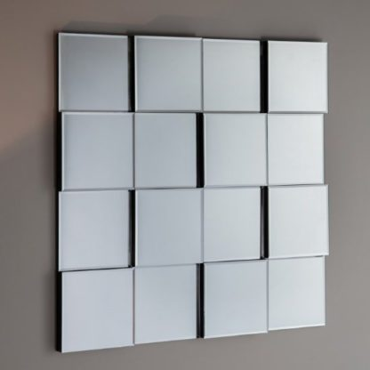 An Image of Motion Wall Mirror Square In Silver