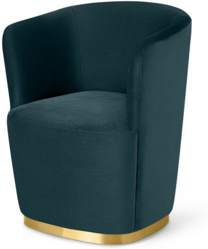 An Image of Revy Dining Chair, Steel Blue Velvet