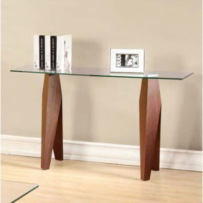 An Image of Mission Clear Glass Console Table